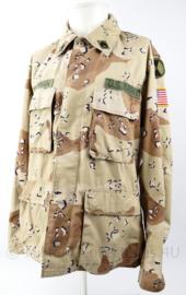 """US Army 1e Golfoorlog 1983 Desert BDU Jas Sinaï missie - met naam van militair  """"German"""" - maat Medium Regular - origineel"""
