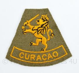 KNIL Nederlandse leger  embleem Mouwleeuw CURACAO