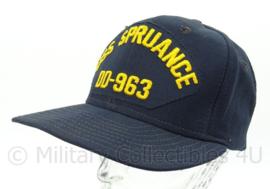 USN US Navy baseball cap bemanning USS Spruance DD-963 - one size - origineel