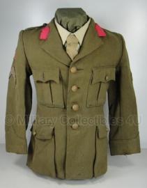Nederlands leger jaren 50 Uniform jas - met schade - maat 48 origineel