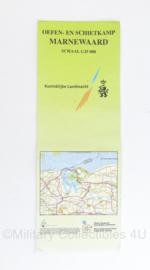 Defensie topografische kaart oefen en schietkamp Marnewaard - 33 x 12 cm -  origineel
