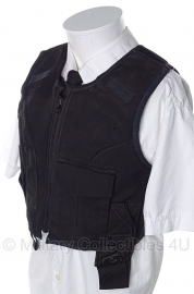 Britse politie kogel- en steekwerend vest hoes- (zonder inhoud) - met 4 portofoon houders - origineel