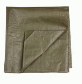KL grondzeil legergroen - +/- 195 x 100 cm - gebruikt - origineel