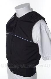 Britse politie kogel- en steekwerend vest hoes- (zonder inhoud) - model met 2 portofoon houders - origineel