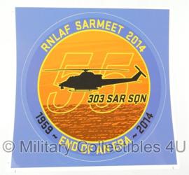 KLU Luchtmacht RNLAF Sarmeet 2014 sticker - nieuw - origineel