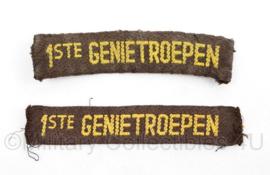 MVO straatnaam PAAR 1st Genietroepen-  10 x 2 cm - origineel