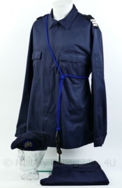 KL complete kleding set met baret en pistoolkoord + baret leger terrein bewaking - maat L - Origineel