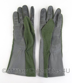 KLU Luchtmacht handschoenen Leder / Nomex groen - gebruikt - maat 9 - origineel
