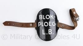 LB Blokploeg Armplaat emaille Luchtbescherming - 10 x 7,5 cm - origineel
