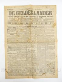 Krant De Gelderlander 1,2 en 3 november 1913 - origineel