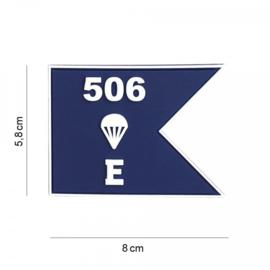 Embleem 506 E Company guide - met klittenband - 3D PVC - 5,8 x 8 cm