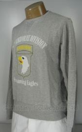 Trui grijs met opdruk 101st Airborne Division - maat Medium of Large