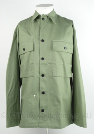 HBT jacket Herringbone Twill Jacket Men - replica wo2 - OD green No.3