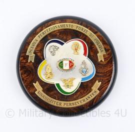 Italiaanse politie wandbord Luxe Scuola perfezionamento Forze Di Polizia - diameter 12 cm - origineel