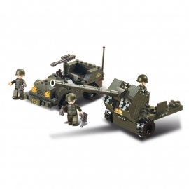 Sluban (geen lego) Flak kanon met Jeep