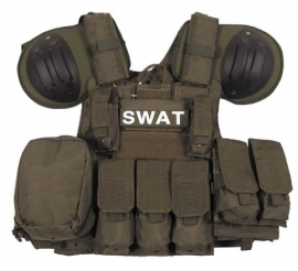 SWAT EN ME assault vest - extra beschermend - groen