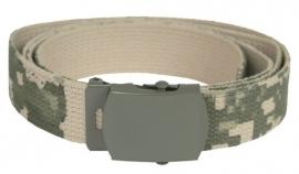 Leger model Broekriem ACU camo met grijs metalen slot - nieuw gemaakt
