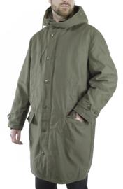 Groene leger parka - MET dikke voering -  maat XL (lengte 175 cm. max)-  origineel