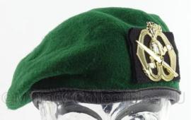Commando Baret KCT model met KCT insigne - donker groen  meerdere maten - origineel