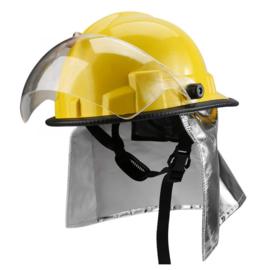 Brandweer helm geel met nekflap