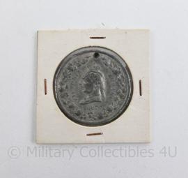 Engelse Munt uit 1887 Victoria jubileum  1887 Great Britain Queen Victoria Jubilee Medal 34mm  - 5 x 5 cm - origineel