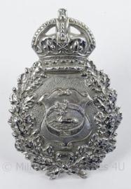 Britse politie helmplaat - afmeting 6 x 9 cm - origineel