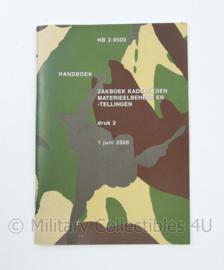 Defensie zakboek voor kaderleden Materieelbeheer en tellingen HB2-9500 - origineel