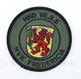 Deens leger embleem  HHD VEJLE HVK Frederica - diameter 8 cm - origineel