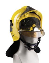 CGF Gallet brandweerhelm met nekbeschermer GEEL -  origineel