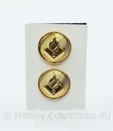 Politie knopen PAAR goudkleurig - diameter 20 mm - origineel
