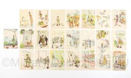 Nederlands leger verzameling geprinte tekeningen uit de KNIL Nederland Indië Periode  - 22 tekeningen = 1 set