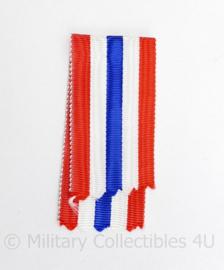 Nederlands medaille lint Orde en Vrede medaille rood/wit/blauw - 11 cm - origineel
