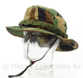 US Army en Korps Mariniers Boonie Hat Woodland Hat Sun Woodland Type III - maat 7 = 56 cm - origineel