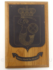 Defence Attaché for Belgium wandbord - 28,5 x 18 cm - origineel