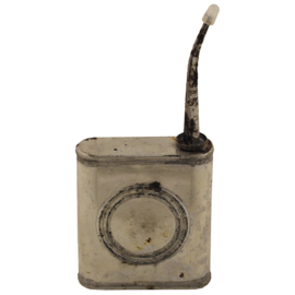 Antiek militair olieblik met tuit ongebruikt KLEIN  8 x 7 x 2,2 cm - origineel