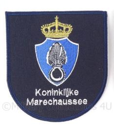 KMAR Koninklijke Marechaussee borst embleem  - BLAUW - 11,5 x 10,5 cm
