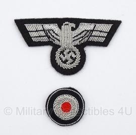 Panzer Officiers adelaar en kokarde
