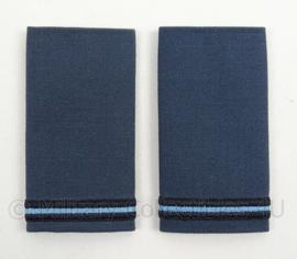 KLu Luchtmacht epauletten rang Adjudant Onderofficier - per paar - afmeting 5 x 9,5 cm -  origineel