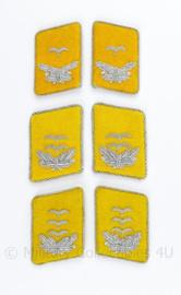 Luftwaffe kraagspiegels Flieger en Fallschirmjäger - officier (geel)  - Leutnant tm. Hauptmann