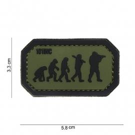 Embleem 3D PVC - met klittenband - Airsoft Evolution - groen - 5,8 x 3,3 cm
