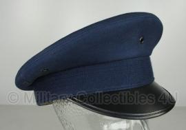 Luchtmacht platte pet donkerblauw - zonder insigne - maat 54 of 55 - origineel