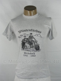 T shirt Afrikakorps 1941-1943 (Fruit of the Loom) - maat Small