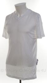 KMAR Koninklijke Marechaussee en Politie BSST vochtregulerend shirt V-HALS voor kogelwerend vest - WIT - korte mouw - maat 7 - origineel
