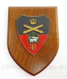 KL Landmacht wandbord 41e Artillerie Regiment - afmeting 19 x 14 x 1,5 cm - origineel