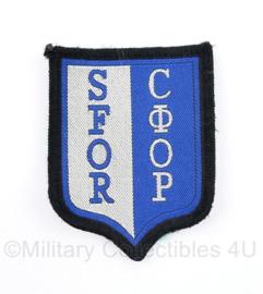 SFOR embleem  СФОР - met klittenband - 9 x 6,5 cm - origineel