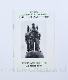 KCT Korps commando troepen programmaboekje - 55 jaar commando reünie 22 maart  1942-1997 - origineel