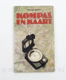 Handleiding Kompas en Kaart door Heinrich Streich - 4e druk 1987 - 20 x 12 x 0,5 cm - origineel