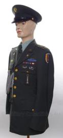 US Army Officier Major uniform SET jasje en pet - met originele insignes, medailles en schietkoord - maat Small - origineel