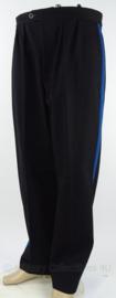 Antieke Gemeentepolitie broek - donkerblauw met lichtblauwe bies - maat 80 - origineel