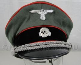 Waffen SS officiers schirmmütze gabardine - semi crusher - Artillerie - maat 60 cm.